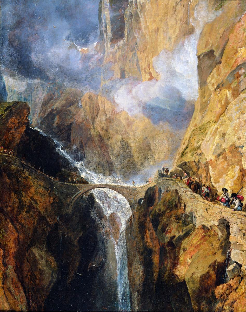 The Devil's Bridge, St Gotthard Pass by JMW Turner (Copyright The Schorr Collection 2020)