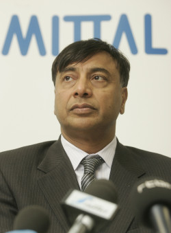Lakshmi Mittal, chairman and chief executive of ArcelorMittal